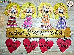 Tabuľky - Menovka - rodinka - 13247945_