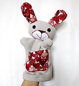 Hračky - Maňuška zajac - Zajačik zo Srdiečkového údolia - 13246608_