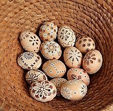 Dekorácie - Kraslice madeira hnedé - 13249115_