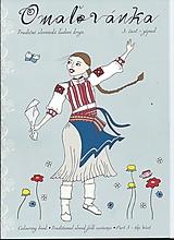 Hračky - Omaľovánka kroje západné Slovensko - 13246925_