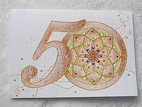 """Papiernictvo - Pohľadnica A5 - Mandala """"50"""" - 13246465_"""
