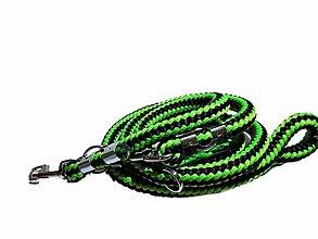 Pre zvieratká - Vodítko prepinacie zeleno-čierne Ø18 mm, D: 2,3 m - 13250250_