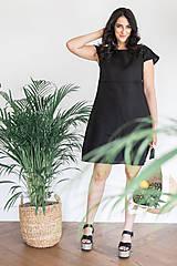 Šaty - Ľanové šaty na dojčenie minimal (VIAC FARIEB) - 13248428_