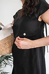Šaty - Ľanové šaty na dojčenie minimal (VIAC FARIEB) - 13248445_