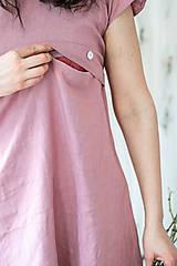 Šaty - Ľanové šaty na dojčenie minimal (VIAC FARIEB) - 13248448_