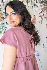 Šaty - Ľanové šaty na dojčenie minimal (VIAC FARIEB) - 13248452_