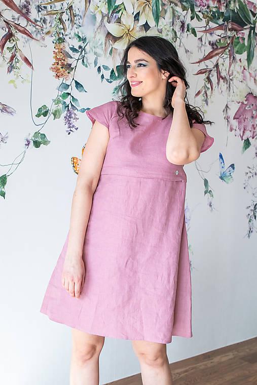 Ľanové šaty na dojčenie minimal (VIAC FARIEB)
