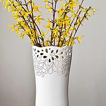 "Dekorácie - ""Zlatý dážď"" porcelánová váza zlatá - 13249690_"
