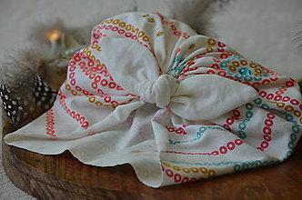Čiapky - Čiapka turban- VÝPREDAJ (Pestrofarebná) - 13248096_