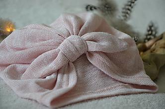 Čiapky - Čiapka turban- VÝPREDAJ (Ružová) - 13248121_