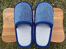 Obuv - Modro-šedé papuče - 13246767_
