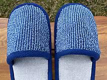 Obuv - Modro-šedé papuče - 13246768_