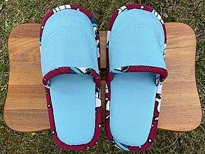 Ponožky, pančuchy, obuv - Tyrkys papuče s vreckom - 13246538_