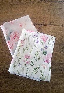Úžitkový textil - Ľanové utierky - kvety - 13247794_