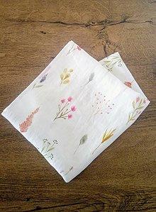 Úžitkový textil - Ľanová utierka - poľné kvety - 13247845_