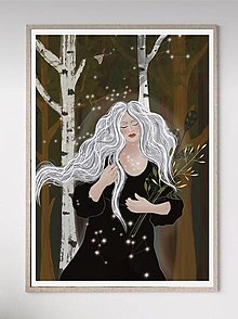 Grafika - Artprint -Grafika -Nočná víla lesa - 13247590_