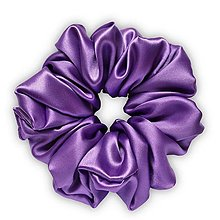 Ozdoby do vlasov - Saténová scrunchie | MAXI (Purple (fialová)) - 13246738_