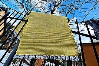 Úžitkový textil - Koberec vlnený  (72x153 - Žltá) - 13254178_