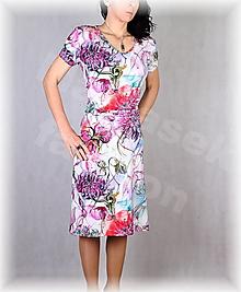 Šaty - Šaty s řasením v pase vz.637 - 13252251_