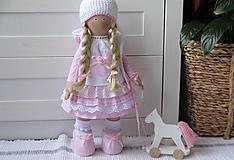 Bábiky - Ružová s koníkom - 13251280_