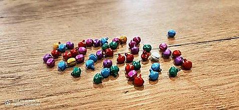 Korálky - Rolničky farebný mix 50 kusov - 13252428_