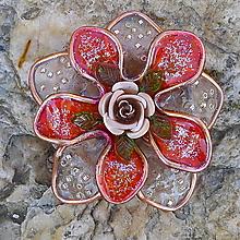Odznaky/Brošne - Ruža - 13252621_
