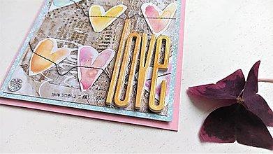 Papiernictvo - LOVE pohľadnica - 13250830_