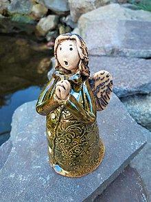 Socha - Spievajúci anjeli (Zelená) - 13252963_