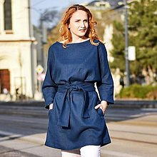 """Šaty - VERONA - ľanové šaty s opaskom """"rôzne farby"""""""" - 13254213_"""