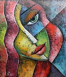 Obrazy - ZELENOOČKA, kubismus - 13253693_