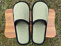 Obuv - Bledozelené papuče - 13250860_