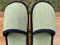 Obuv - Bledozelené papuče - 13250861_
