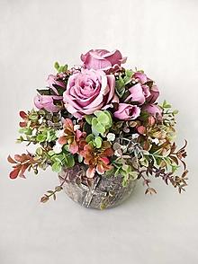 Dekorácie - Spomienková dekorácia s ružami - 13252143_