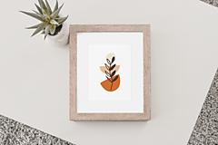 Grafika - Art Print-Boho abstraktné kvety No.19 - 13252999_