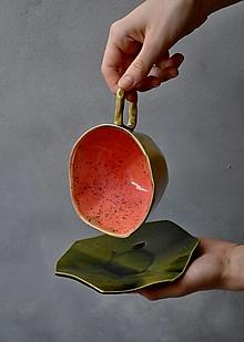 Nádoby - tanierik, podšálka kubistická - 13252650_