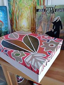 Krabičky - A4+ škatuľa kvety - 13251064_