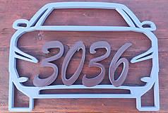 Číslo na garáž (malé auto - 10cm číslice)