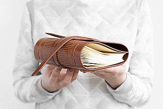 Papiernictvo - Kožený zápisník Denis - 13255316_