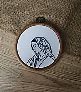 Dekorácie - MARY / The mother of Jesus / vyšívaný obraz - 13253382_