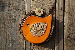 Dekorácie - Vtáčik vo venčeku č. 141 - 13250779_