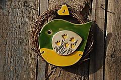 Dekorácie - Vtáčik vo venčeku č. 142 - 13250780_