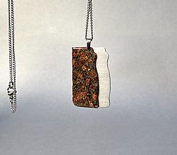 Náhrdelníky - rock 'n' aluminum... syenit a hliník - 13250723_