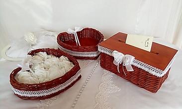 Košíky - Svadobná sada čerešňová - 13252634_