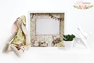 Rámiky - Dievčatkovský 3D fotorám do detskej izby - 13256871_