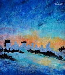 """Obrazy - Arttexový obraz """"Mesto v objatí polárnej žiary"""" - 13259254_"""