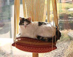 Pre zvieratká - Veľké makramé ležovisko pre mačičku - 13257852_