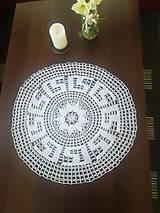 Úžitkový textil - Veľká háčkovaná okrúhla dečka - 13255922_