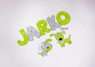 Detské doplnky - menovkaz písmen pre Jarka - 13256845_