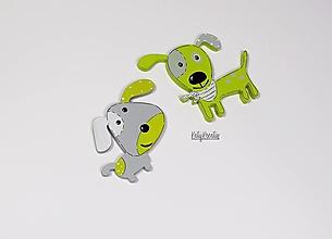 Detské doplnky - psík Uško a Ťapko v zelenom - 13257369_