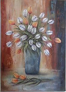 Obrazy - Biele tulipány... - 13258798_